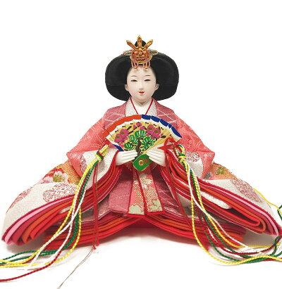 雛人形ひな人形コンパクト漆調ケース飾り雛親王飾り名前旗付【2018年度新作】プレミアム5点セット