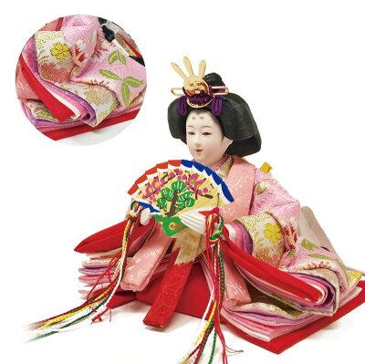 雛人形ひな人形ピンク平飾りコンパクト雛平飾り親王飾り名前旗付【2019年度新作】