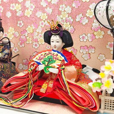 雛人形ひな人形コンパクト小さい雛ケース飾り親王飾り名前旗付【2018年度新作】【選べる36種類】