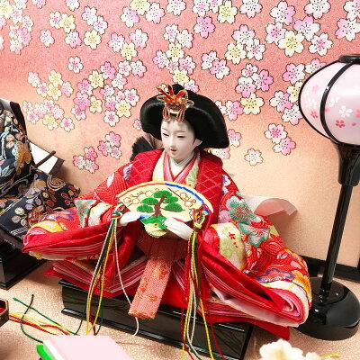雛人形ひな人形コンパクト小さい雛平飾り親王飾り名前旗付【2018年度新作】