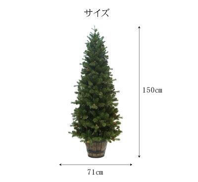 クリスマスツリープレミアムウッドベースツリー120cmポットツリーセットオーナメントセット