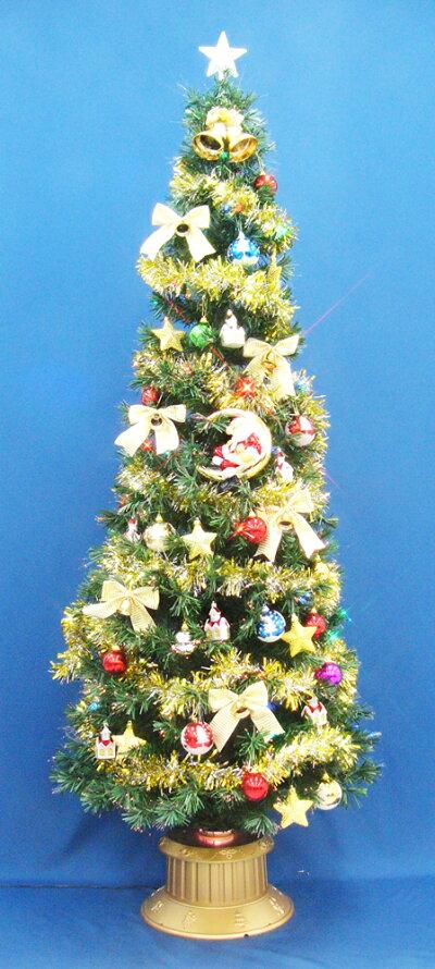 クリスマスツリー90cmファイバーツリーセット14