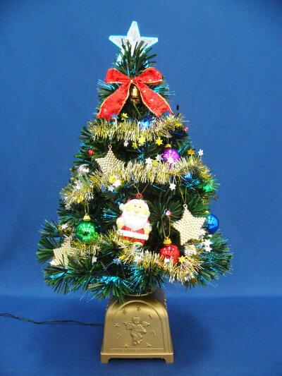 クリスマスツリー60cmグリーンファイバーツリーセット1202P21May14