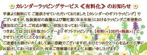 星野富弘詩画集カレンダー2018年版【クリスマス★ラッピング版】クリスマスのギフトに最適!【RCP】