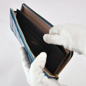 財布長財布ARUKANアルカンテールワニLファスナー(ブルーグリーン)無料ラッピング承ります【RCP】【レディース財布】