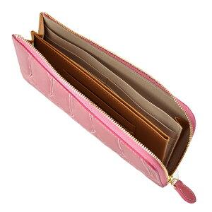 財布長財布ARUKANアルカンテールワニLファスナー(ピンク)無料ラッピング承ります【RCP】【レディース財布】