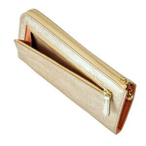 財布長財布ARUKANアルカンフィーナLファスナー(ゴールド)無料ラッピング承ります【RCP】【レディース財布】