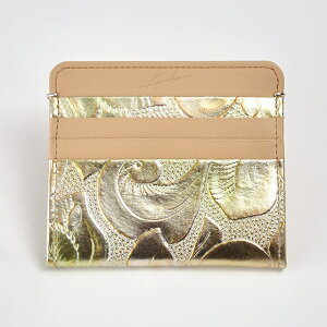 財布札入れARUKANアルカンフローラ半札入れ(ゴールド)無料ラッピング承ります【RCP】【レディース財布】