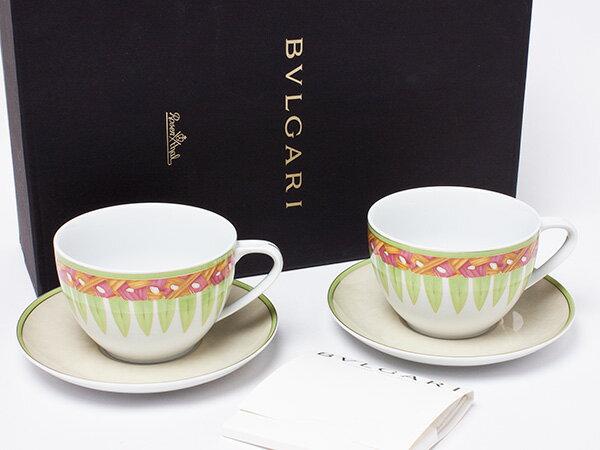 【送料無料】ブルガリ コロナトリバーレ ペアカップ&ソーサーお茶のふじい・藤井茶舗