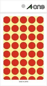 エーワン カラーラベル 15mm丸 赤 14シート×40面 (560片) 07021 印刷紙 印刷用紙 松本洋紙店 敬老の日