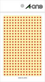 エーワン カラーラベル 3mm丸 赤 4シート×336面 (1344片) 07681
