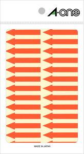 エーワン 特殊ラベル 矢印 蛍光 赤 4シート×26面 (104片) 08065