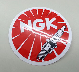 «Tax» NGK sticker 9 cm round diameter seal mark symbol NGK spark plugs Japan Special porcelain * cod, non, normal mail