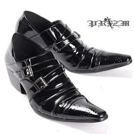 CandyRed エナメルバックルストーンドレスシューズ・エナメルシューズ・ビジネスカジュアルシューズ・エナメルスクェアーシューズ,結婚式シューズ・とんがり靴