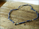 Sunku 39 [サンク] Indigo Dye Beads Anklet&Necklace/インディゴ染めビーズ アンクレット&ブレスレット [SK-025...