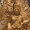 阿卡拉柏树,俱知安利息 kurikara 火焰卷光高高度︰ 72 厘米木雕佛阿卡拉图像阿卡拉俱知安利息 kurikara 火焰体积光回