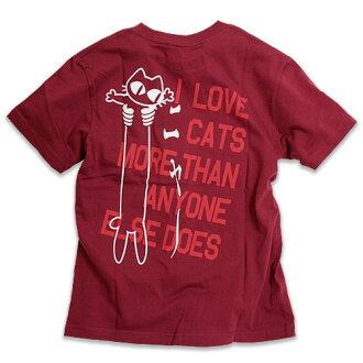 940e659bb2 auc-scopy: Cat cat T-shirt LOVE CAT (PK Ver) (wine red) | Cat cat ...