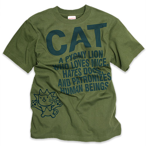 猫 ねこ Tシャツ PYGMY LION ( オリーブ )   ネコ 猫柄 猫雑貨   メンズ レディース 半袖 トップス   かわいい おしゃれ 大人 ペアルック お揃い プレゼント   大きいサイズ   SCOPY / スコーピー