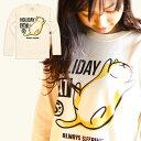 猫 ロンT HOLIDAY CAT ( ナチュラル ) | トップス 長袖 Tシャツ | ねこ ネコ 猫柄 猫雑貨 | メンズ レディース かわいい おしゃれ ...