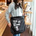 【 送料無料 】 猫 ねこ マルシェ バッグ AFRO CAT RECORD ( ブラック ) | ネコ 猫柄 猫雑貨 猫グッズ | リップストッ…