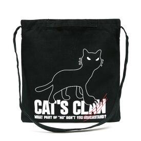 猫 ねこ 2WAY ショルダーバッグ CAT'S CLAW ( ブラック ) | ネコ 猫柄 猫雑貨 猫グッズ | 軽い 斜めがけ 丈夫 な キャンバス トートバッグ サコッシュ バッグ | メンズ レディース かわいい おしゃれ 大人 プレゼント | 猫の日 | SCOPY / スコーピー