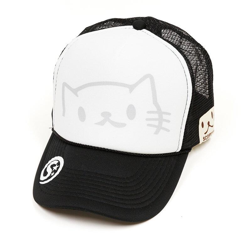 猫 ねこ メッシュキャップ のぞきねこ ( ブラック )   ネコ 猫柄 猫雑貨 猫グッズ   メンズ レディース キャップ   かわいい おしゃれ 大人 プレゼント   SCOPY / スコーピー