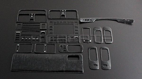 【在庫限りの大特価】 セルシオ(UCF20系) 前期用 3Dパネル 16ピース/16P [黒木目調] インテリアウッドパネル/内装/インパネ