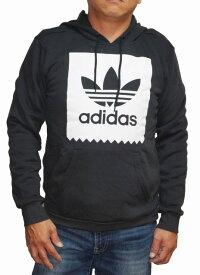 【中古】アディダス adidas オリジナルス パーカ プルオーバー 黒 CW2358 ロゴ メンズ 裏起毛 ブラック 秋物 冬物 originals スケートボーディング