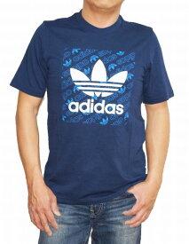 【中古】 アディダス adidas オリジナルス 半袖Tシャツ 紺 ロゴ メンズ ED7044 ネイビー 夏物