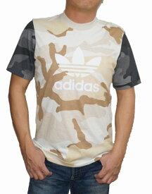 【中古】アディダス adidas オリジナルス 半袖Tシャツ カモフラージュ ベージュ ED6957 メンズ 夏物 迷彩 トレフィル ブラウン 茶 グレー