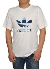 【中古】アディダス adidas オリジナルス 半袖Tシャツ 白 青 DX3676 トレフィル メンズ 夏物 ホワイト ブルー