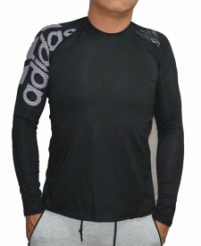 【中古】アディダス adidas 長袖 コンプレッションインナー トレーニング ランニング 黒 DW4147 タイトフィット メンズ ブラック ALPHASKIN フィットネス Tシャツ