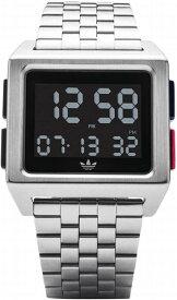 【訳あり】【中古】アディダス adidas オリジナルス 腕時計 シルバー 防水 デジタル ウォッチ Z01-2924-00 Achive M1