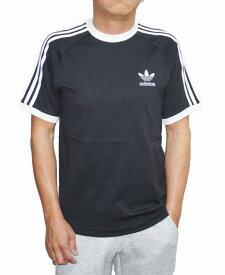 【中古】アディダス adidas 半袖Tシャツ 黒 白 スリーストライプ トレフィル ロゴ メンズ CW1202 夏物 ホワイト ブラック