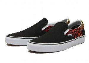 バンズ VANS スリッポン 黒 LOGO FLAME メンズ シューズ 靴 ブラック SLIPON ヴァンズ 海外モデル スニーカー