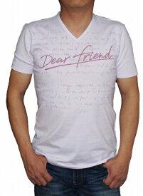 ニコル セレクション NICOLE selection 半袖 Tシャツ Vネック 薄紫 8266 メンズ 夏物 パープル ピンク