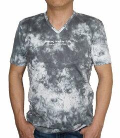 ニコル セレクション NICOLE selection 半袖 Tシャツ Vネック タイダイ sj 8266 メンズ 夏物 ブラック グレー