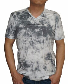 ニコル セレクション NICOLE selection 半袖 Tシャツ Vネック タイダイ kj 8266 メンズ 夏物 ブラック グレー