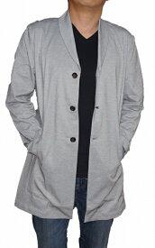 ハイダウェイ HIDEWAYS BLACK by NICOLE ジャケット ショールカラー グレー 91 lg ニコル 8165-9930 メンズ 春物 夏物 薄手 カットジャケット