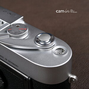 cam-in ソフトシャッターボタン | レリーズボタン 超薄型 凸面 - スチールグレー CAM9007