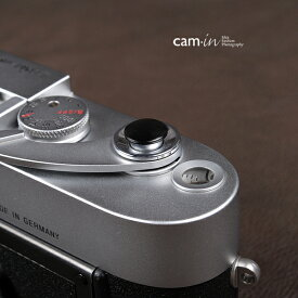 cam-in ソフトシャッターボタン   レリーズボタン オリジナル 凸面 - マットブラック CAM9012
