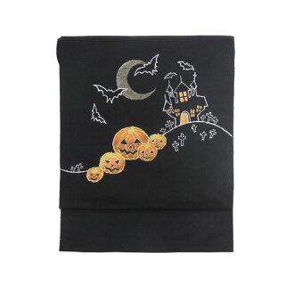 """名古屋带纯丝黑徒手图黑猫南瓜墓地是这样的鱼叉""""万圣节""""黑色京都球响"""