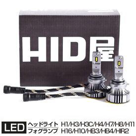 LEDヘッドライト GシリーズH1 H3 H3C h4 H7 H8 H9 H11 H16 H10 HB3 HB4 HIR2 爆光 省エネ 12880lm 6500k 車検対応 ホワイト フォグランプ使用可能 日本製LEDチップ搭載 HID屋