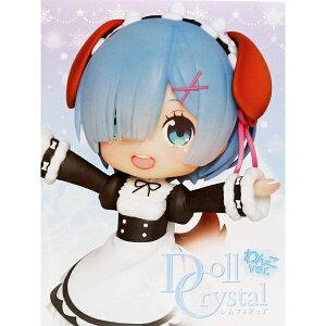Re:ゼロから始める異世界生活 Doll Crystal レムフィギュア わんこver. リゼロ メイド服 犬 イヌ 耳 尻尾 台座 模型 プライズ タイトー 【即納】【数量限定】【セール品】