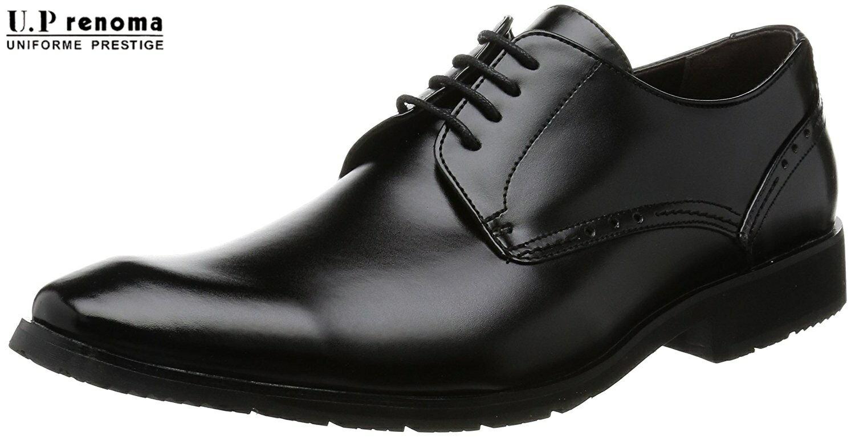 【U3605】【U.P renoma】【ユーピー・レノマ】【送料無料】軽量☆防水☆プレーンビジネスシューズ紳士靴