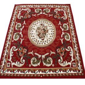 激安 じゅうたん カーペット マット ラグマット 4.5畳 四畳半 4.5帖 ラグカーペット 春夏秋冬 オールシーズン 安い ベルギー製 輸入ラグ カーペット レッド 約240×240cm シラーズ1123 (Y) 絨毯 ジュータン 赤 red roze rug carpet mat 引っ越し 新生活