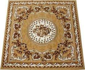 激安 じゅうたん カーペット マット ラグマット 4.5畳 四畳半 4.5帖 ラグ オールシーズン 安い ベルギー製 輸入ラグ カーペット 約 240×240cm シラーズ 1123 (Y) ベージュ (ライトブラウン) 絨毯 ジュータン 茶色beige brown rug carpet mat made in belgium 新生活
