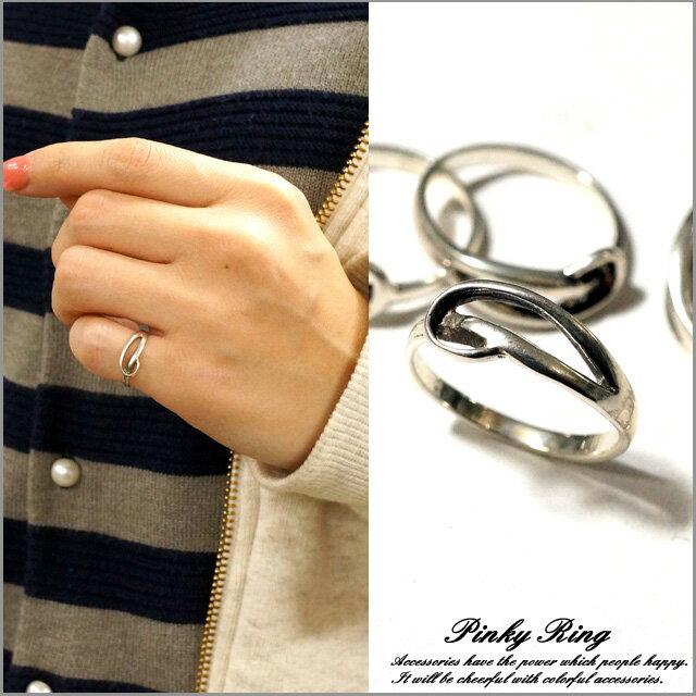 ピンキーリング シルバーリング シルバー925 メンズ レディース 指輪 波 釣り針 カッコいいデザインのピンキーリング シルバー925 silver925 シルバーアクセサリー 指輪