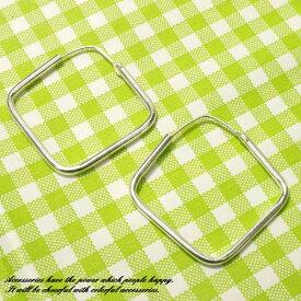シルバーピアス シンプルなダイヤ形のフープピアス シルバー925 silver925 シルバーアクセサリー ループピアス レディースピアス スクエア 四角 ひし形