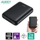 モバイルバッテリー 大容量 10000mah AUKEY オーキー Sprint Go Dual 10 ブラック PB-N66-BK スマホ iPhone Android アンドロイド 充電 2ポート コンパクト USB 最大2.4A 軽量 2年保証